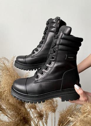 Натуральная кожа! зимние ботинки берцы