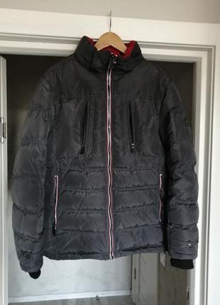 Тёплый зимний натуральный пуховик пуховая куртка. куртка пуховик