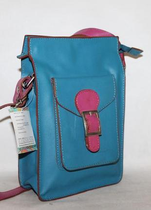 Кожаная сумка карман/кроссбоди 100% натуральная кожа
