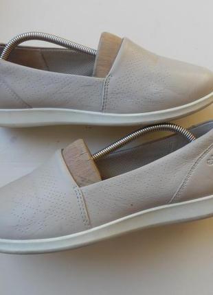 Кожаные туфли балетки ecco 37р