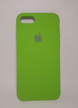 Задня накладка iPhone 7 Original Soft Touch Case Lime Green