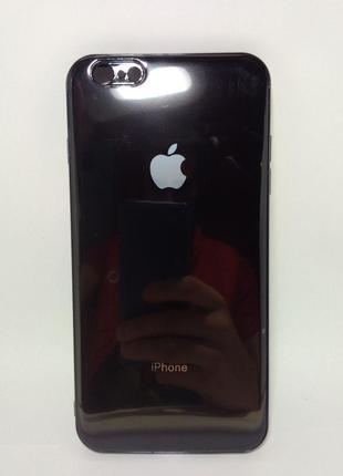 Задня накладка iPhone 6 Plus Glass Case Black