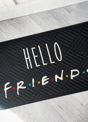 Коврик придверный с принтом hello friends (kov_20s004)