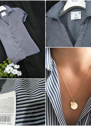 Рубашка oversize cotton в полоску блуза топ футболка блузка s ...