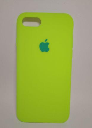 Задня накладка iPhone 7 Original Soft Touch Case Party green