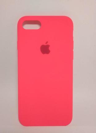 Задня накладка iPhone 7 Original Soft Touch Case Hot Pink