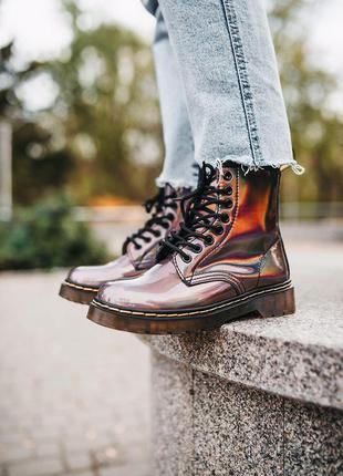 Шикарные кожаные осенние ботинки сапоги dr.martens 1460 на пла...