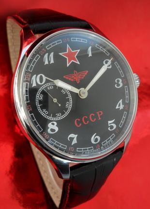 часы КОМАНДИРСКИЕ_МОЛНИЯ_хомаж мех. 1954 год СССР мужские большие