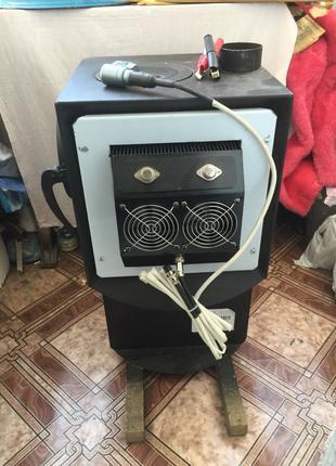 Твердотопливная печь на 50 м. куб. с термоэлектрогенераторами