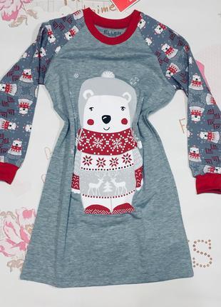 Детская ночная рубашка утепленная ellen 012/001 р.104,110,166,122