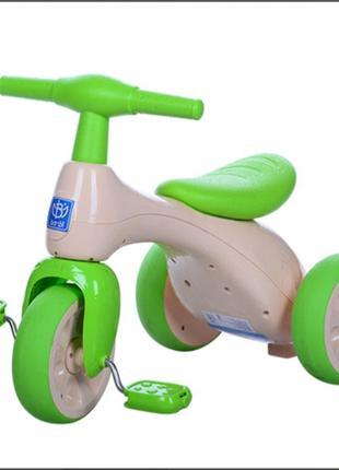 Детский трёхколёсный велосипед Bambi 601S-5 сиденье пищалка(бело)