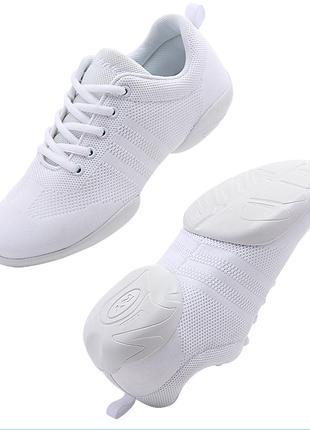 Обувь для танцев, кроссовки сникеры танцевальные белые