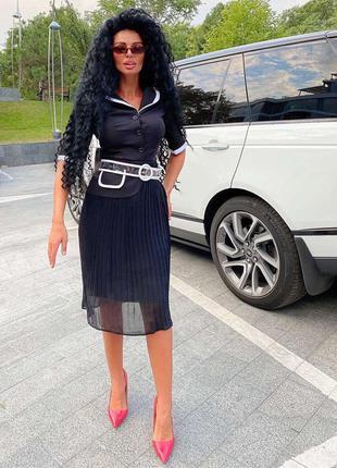 Платье гофре
