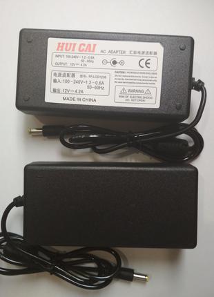 Блок питания адаптер 12V 4A для SMD лент и другого