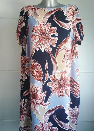 Стильное платье marks&spencer с принтом крупных цветов