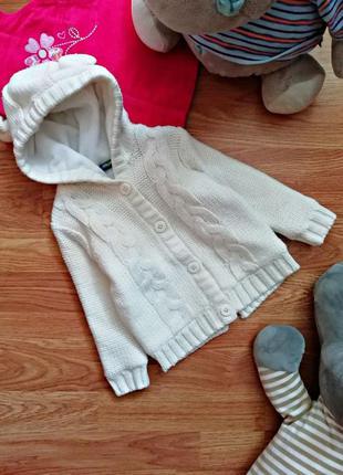 Детская теплая брендовая кофта на флисе унисекс lupilu - возра...