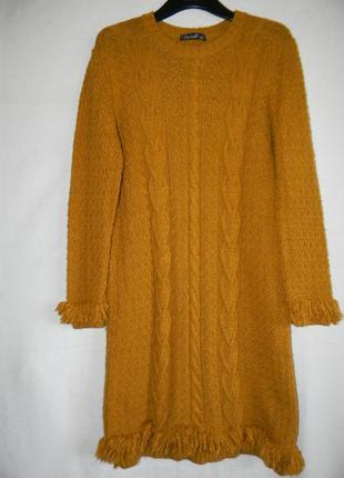 Теплое платье крупной вязки
