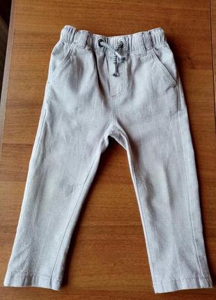 Брюки штани некст лляні 9-12 міс