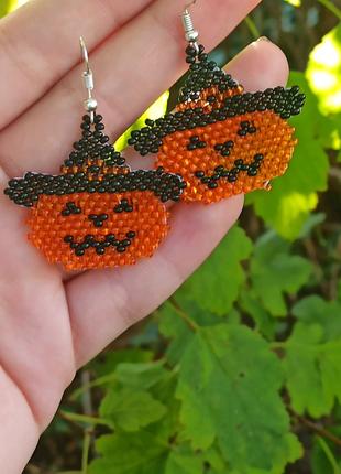 Сережки Halloween 🎃 з бісеру