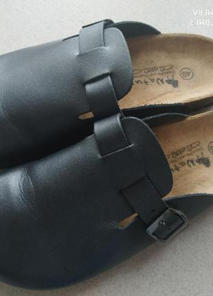Ортопедические кожаные шлепанцы-сланцы naturpur-германия