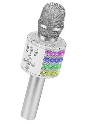 Микрофон для караоке с подсветкой MK2L Silver SKL25-223371