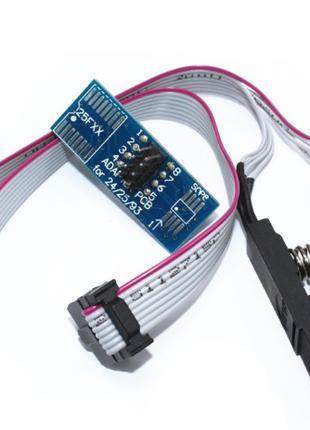 Прищепка переходник SOIC8 SOP8 для программатора CH341A и др.
