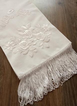 Свадебный рушник. полотенце на свадьбу.