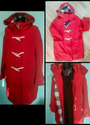 Суперское шерстяное красное пальто only p-p m