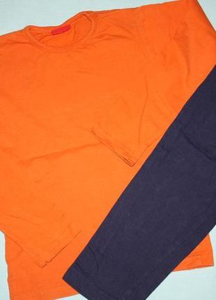 Яркая котоновая пижама р-98/104 в хорошем состоянии
