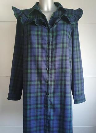 Оригинальное платье-рубашка asos с красивым клетчатым узором и...