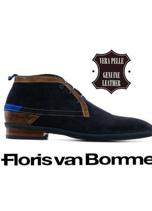 Floris van bommel мужские ботинки дерби из натуральной замши