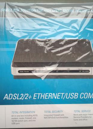 Модем D-Link 2520U роутер/сплитер/ADSL/15B/700мА для Укртелеком
