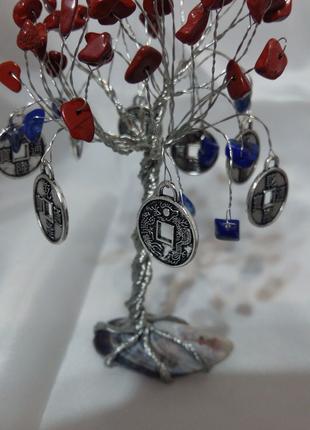 Новое денежное дерево фен-шуй яшма лазурит подарок