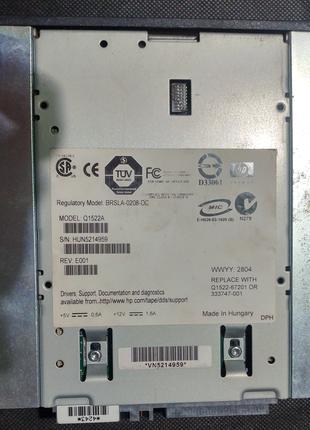 Стример HP StorageWorks DAT 72 Q1522A SCSI + картридж на 72Гб