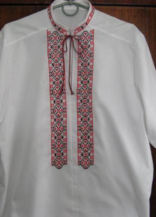 Вышиванка ручной работы, рубашка вышитая, вышивка ручная по по...