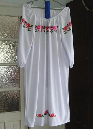 Вишитая сорочка, платье-вышиванка, ручная вышивка