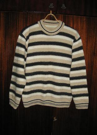 Свитер пуловер полосатый