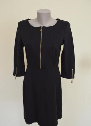 Шикарное брендовое трикотажное платье на молнии длинный рукав ...