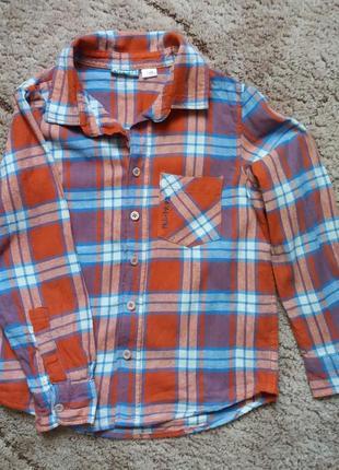 Сорочка  pepperts  для хлопчика в клітинку,  розмір 134 см.