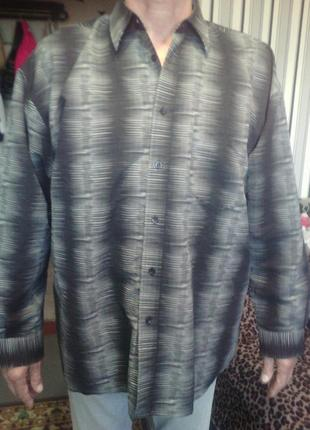 Шикарная рубашка большого размера на укр 58, ворот  43/44 фирм...