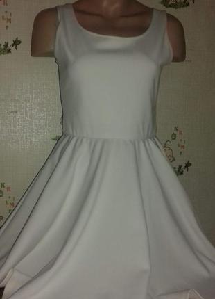 Белое платье солнце-клещ. evita
