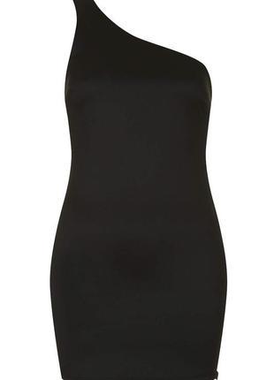 Платье майка на одно плечо.