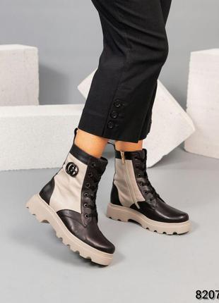 Кожаные зимние женские ботинки натуральная кожа