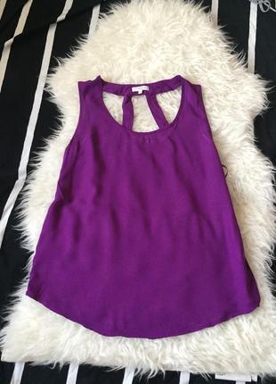 Топ, блуза, майка, кофточка свободная цвет пурпурный, малиновый
