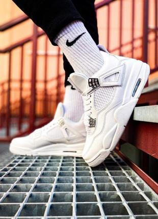 Кроссовки nike air jordan 4 retro white
