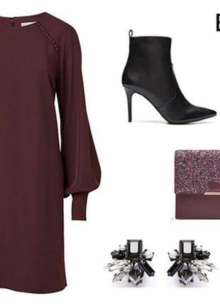 Шоколадное вязаное платье, теплое, с длинным рукавом, лапша.
