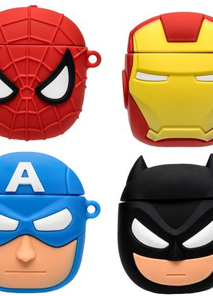 Силиконовый футляр Marvel & DC series для наушников AirPods + кол