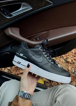 Шикарные женские кроссовки nike air force 1 lv8 5 black white ...