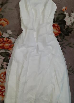 Белое платье свадебное, выпускное