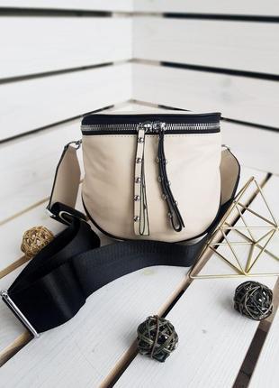 Кожаная женская сумка на длинном ремешке, сумка кроссбоди